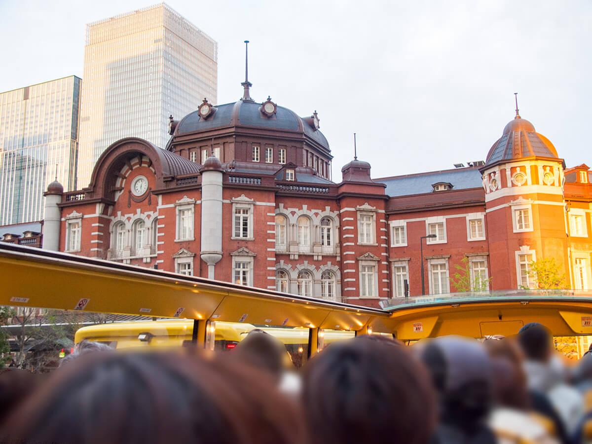 [当日でも乗れた]はとバスの2階建てオープンエアバスで東京観光しました。