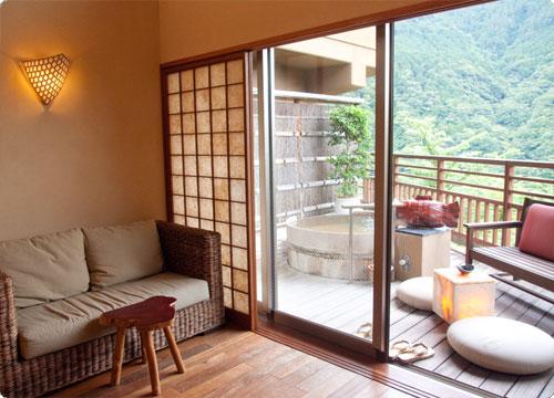 箱根吟遊 部屋の露天風呂