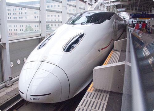 鹿児島から帰る。九州新幹線で。(倒置法)