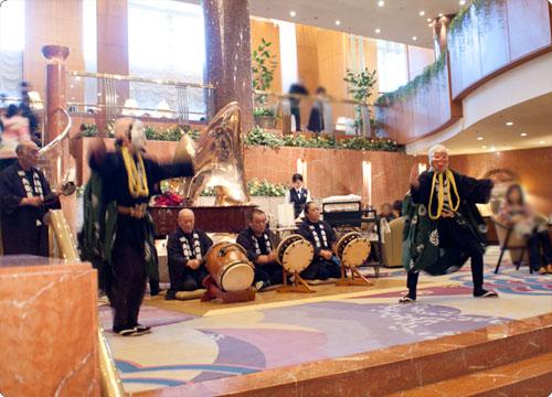 横浜ベイシェラトンで、家族の新年会
