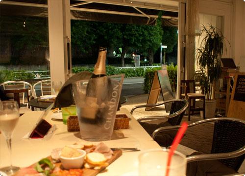 グッドモーニングカフェで食事会。